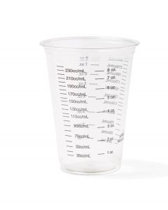 Disposable Graduated Cold Plastic Drinking Cup, 10oz