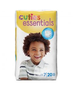 Cuties Essentials Baby Diapers, Size 7, 41+ lbs, Pack of 20