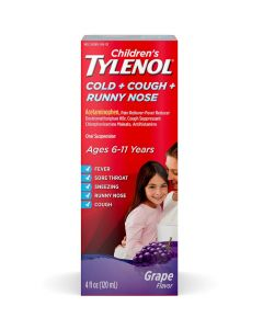 TYLENOL Children's Cold & Cough Relief Oral Suspension, 4oz