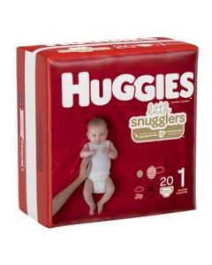 Huggies Little Snugglers Diapers, Size 1 (Up to 14 lb), Case of 12 Packs (20/Pack)