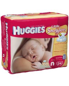Huggies UltraTrim Newborn Diaper, Size N, 1-10 lb 24/PK or 288/CS
