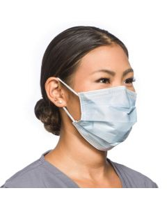 Fluidshield Level 2 Procedure Face Mask, SO Soft Earloops, Blue, 50/Box, One Box