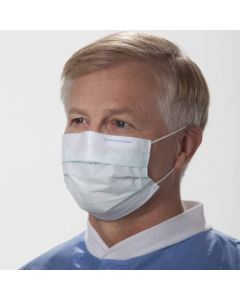 Procedure Face Masks, Lite One, Pleated, Blue, Pack of 50