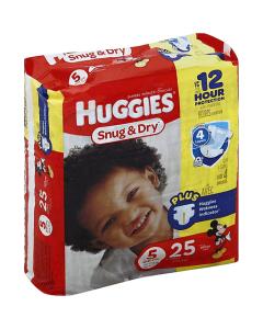HUGGIES Snug & Dry Diapers, Size 5