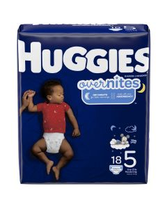 HUGGIES OverNites Diapers, Size 5