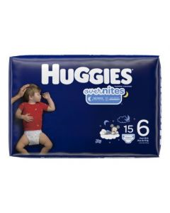 HUGGIES OverNites Diapers, Size 6