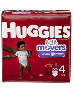 Huggies Little Movers Diapers, Sizes 3 - 6