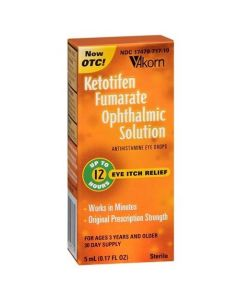 Ketotifen Fumarate Itch Relief Antihistamine Eye Drops