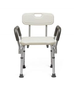 Medline Knockdown Bath Bench with Arms and Back 1Ct MDS89745RAH by Medline