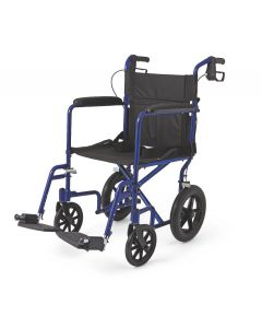 "Lightweight Aluminum Transport Chair with 12"" Wheels"