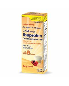 Children's Ibuprofen Oral Suspension Pain/Fever Medicine, 4oz