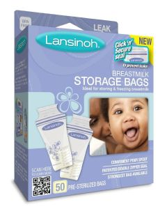 Lansinoh Breastmilk Storage Bags 6oz 50Ct