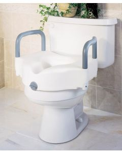Medline Locking Raised Toilet Seat with Arms - Shop All