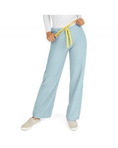 AngelStat Unisex Reversible Drawstring Waist Scrub Pants with Medline Color-Coding, Size L Regular Inseam, Misty