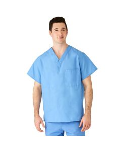 AngelStat Unisex Reversible V-Neck Scrub Top, Size M