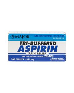 Major Tri-Buffered Aspirin Tablet 325mg 100Ct