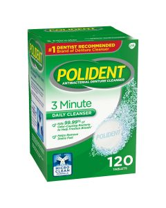 Polident 3 Minute Antibacterial Daily Denture Cleanser 120Ct MDH096112454 by Polident