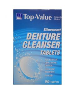 Denture Cleanser Tablets 90 Count MDS136405Z by Tower Laboratories Ltd