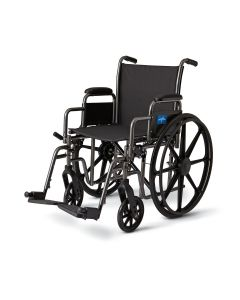 K3 Basic Lightweight Wheelchair with Desk-Length Arms and Swing-Away Footrests, 300 lb. Weight Capacity, 16in Width