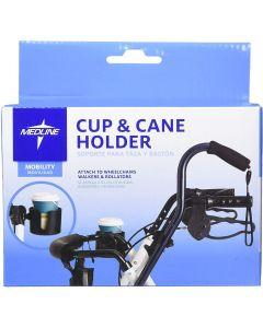 Medline Cup and Cane Holder Set for Rollator 6Ct