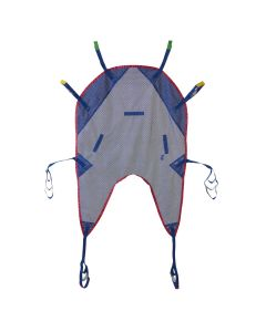 Reusable U Shaped Patient Sling with Head Support Mesh 450 lb. Size L