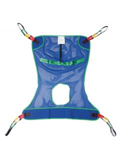 Reusable Full Body Patient Sling with Commode Opening Mesh Size L