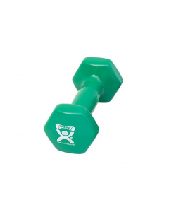 CanDo Green Vinyl-Coated Iron Dumbbell 3lb 1Ct