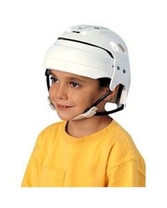 "Pediatric Lightweight Protective Helmets for 22"" to 25"" Head Circumference, White"