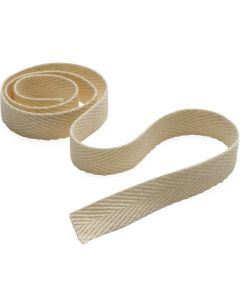 100% Polyester Unbleached Twill Tape, 0.5in x 72 yd.