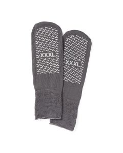 Double-Tread Patient Slippers Gray Bariatric 1Pair