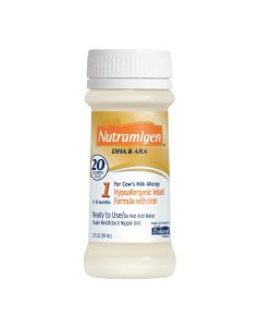Enfamil Nutramigen Hypoallergenic Ready to Feed Colic Baby Formula Lactose Free Milk, With Omega 3 DHA, Probiotics, Iron, Immune Support, 2oz Bottle