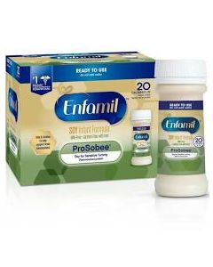 Enfamil ProSobee Lipil 20 Cal Ready-to-Feed Infant Formula, 2oz, Pack of 6