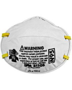 3M 8110S Particulate Respirator, N95, Size Small, 20/Box