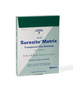 """Suresite Matrix Transparent Film Dressing 4""""x4.5"""" 1Ct"""