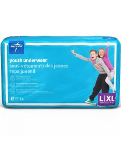 DryTime Disposable Protective Youth Underwear, Size Youth L / XL (60-125 lb.), Bag of 12