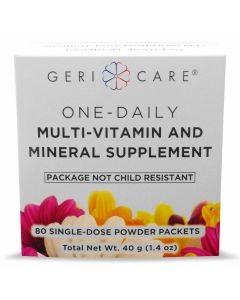 One Daily Multivitamin and Mineral Supplement Powder Packet, Box of 80 Single-Dose Packets