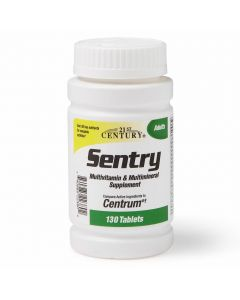 Sentry Multivitamin with Minerals Tablets, For Adults, Bottle of 130