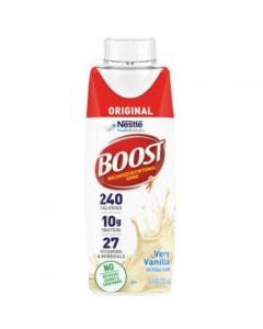 Boost Original Adult Oral Supplement, Very Vanilla Flavor, Ready to Use, 8 oz Carton, Case of 24