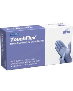 Powder-Free Nitrile Exam Gloves, Violet Blue, Size L, 100 Count, Case of 10 Boxes (Total of 1000 Gloves)