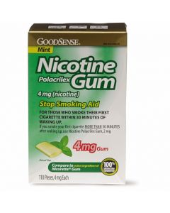 GoodSense Nicotine Gum 4mg Mint 110Ct OTC14734 by Medline