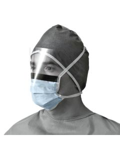 Prohibit X-Tra Fluid Face Protection Surgical Mask with Eye Shield