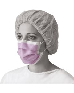 ASTM F1862 (120 mmHg) Fluid Resistant Procedure Face Mask with Earloops and Cellulose Inner / Polypropylene Outer Facings, Box of 50