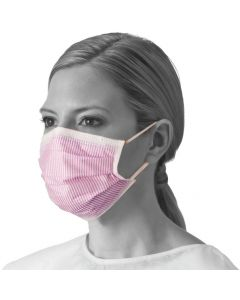 ASTM Level 3 Procedure Face Mask with Ear Loops and Cellulose Inner / Outer Facings, 4-Ply, Pink, 50 per Box, One Box