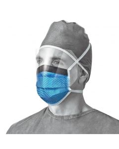 Medline Fluid-Resistant Face Mask with Eye Shield 250Ct NON27810 by Medline