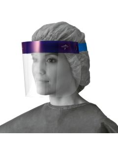 Disposable Face Shield with Foam Top and Elastic Band, 3/4 Length