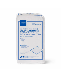 Medline NS Woven Cotton Gauze Sponge 8ply 4x4 200 Ct
