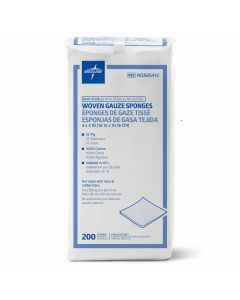 Medline NS Woven Cotton Gauze Sponge 12ply 4x4 200 Ct