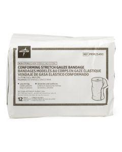 Medline Conform Stretch Gauze Bandage 3x75in Lt 12Ct
