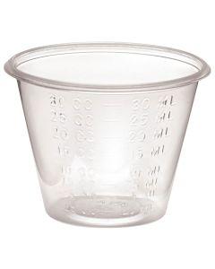 Non-Sterile Graduated Plastic Medicine Cups, 30mL/cc