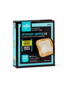 Optifoam Gentle Silicone-Faced Foam and Border with Liquitrap